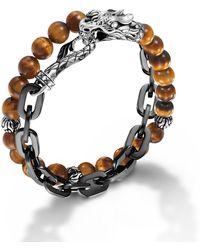 John Hardy Stainless Steel Double Wrap Link Bracelet - Lyst