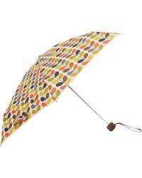 Orla Kiely - Stem Microslim Umbrella In Gift Box - Lyst