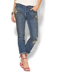Free People Low Rise Boyfriend Jean - Lyst