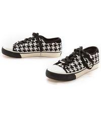 DKNY Barbara Houndstooth Sneakers Blackwhite - Lyst