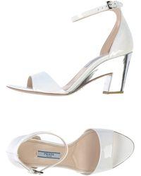 Prada White Sandals - Lyst