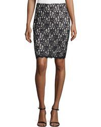 Diane von Furstenberg Scalloped Floral-lace Overlay Skirt - Lyst
