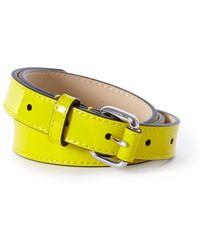 Karen Millen   Skinny Patent Belt   Lyst