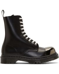 Dr. Martens Black Leather Steel Toe Grasp Boots - Lyst