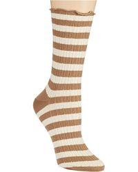 Hue Striped Ribbed Socks - Lyst