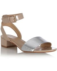 Oasis Colour Block Two Part Heel Sandals - Lyst