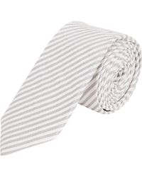 Barneys New York Stripe Seersucker Tie - Lyst