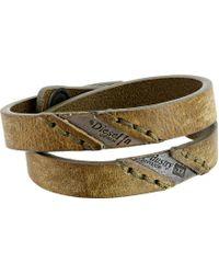 Diesel 00Sg3R 0Daiu Agefty Bracelet beige - Lyst