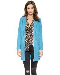 Glamorous - Long Coat - Blue - Lyst