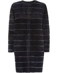 Max Mara Leather-Lined Shearling Coat - Lyst