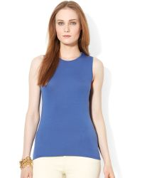 Lauren by Ralph Lauren Petite Sleeveless Slimfit Top - Lyst
