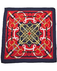 Hermes Preowned Eperon Dor Silk Scarf - Lyst