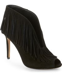 Vince Camuto Signature - Black Yvonne Fringe Booties - Lyst