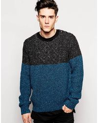 Diesel Blue Sweater - Lyst
