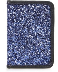 Topshop Glitter Oyster Card Holder - Lyst