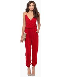 Tobi Wrap Me Up Jumpsuit - Lyst