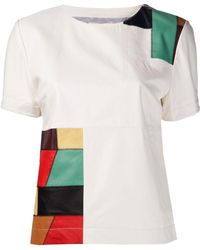 Band Of Outsiders Patchwork Tshirt - Lyst
