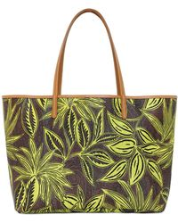 Etro Paisley & Palms Coated Canvas Tote Bag - Lyst
