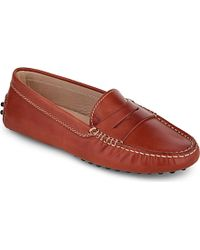 Tod's Mocassino Leather Loafers - For Women - Lyst