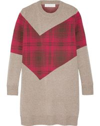 Thakoon - Addition Tartan-paneled Knitted Sweater - Lyst