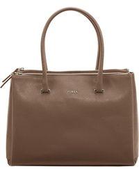 Furla Lotus Leather Carryall Tote Bag - Lyst