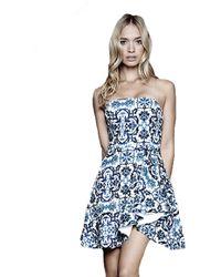 Stylestalker Secrets Removable Strap Dress In Ming Print blue - Lyst