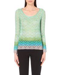 Missoni Scoop-Neck Chevron-Knit Top - For Women multicolor - Lyst