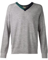 Band Of Outsiders Two Tone Sweater - Lyst