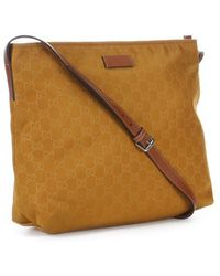 Gucci Golden Mustard and Tan Gg Shoulder Bag - Lyst