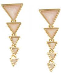 House Of Harlow 1960 Meteora Drop Earrings pink - Lyst