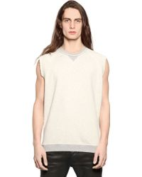 Diesel Sleeveless Cotton Sweatshirt - Lyst