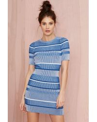 Nasty Gal All Blues Ribbed Sweater Dress blue - Lyst