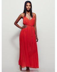Free People | Womens Pleated Pleasures Midi Dress | Lyst