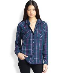 Rails Kendra Plaid Button-Down Shirt - Lyst