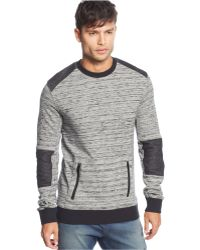 Rogue State - Contrast-Patch Marled Sweater - Lyst