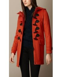 Burberry Straight Fit Duffle Coat - Lyst