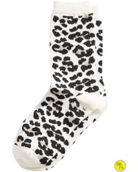 Banana Republic Factory Cheetah Sock - Lyst