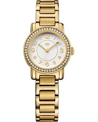Tommy Hilfiger Women'S Gold Ion-Plated Stainless Steel Bracelet Watch 28Mm 1781477 - Lyst