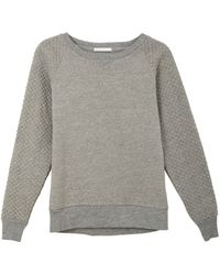 Alternative Apparel Gray Quilted Sweatshirt - Lyst