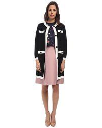 Kate Spade Color Block Scuba Coat - Lyst