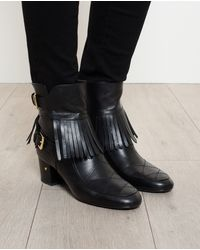Laurence Dacade Babacar Fringed Leather Ankle Boots - Lyst