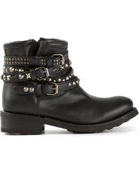 Ash Studded Biker Boots - Lyst