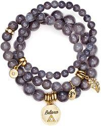 Sequin - Balance Feather Bracelets, Set Of 3 - Lyst