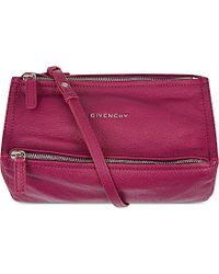 Givenchy Mini Pandora Leather Satchel Bag - Lyst