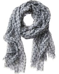 Banana Republic Pamela Scarf Preppy Navy - Lyst