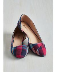 East Lion Corp/Qupid - Tip Tap Toe Flat In Plaid - Lyst