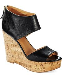 Nine West Black Caswell Wedges - Lyst