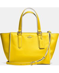 Coach Crosby Mini Carryall In Colorblock Leather - Lyst