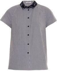 Carven Gingham Shirt - Lyst