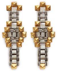 Ela Stone - 'Blake' Stud Chain Link Earrings - Lyst